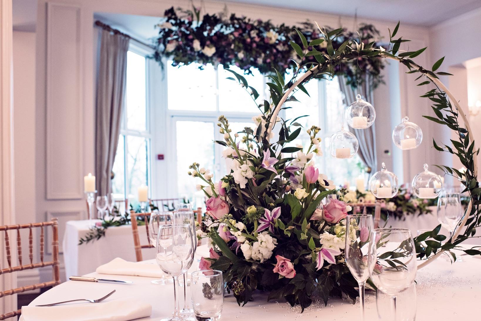FLORAL HOOPS TREND ASHFIELD HOUSE WEDDING VENUE
