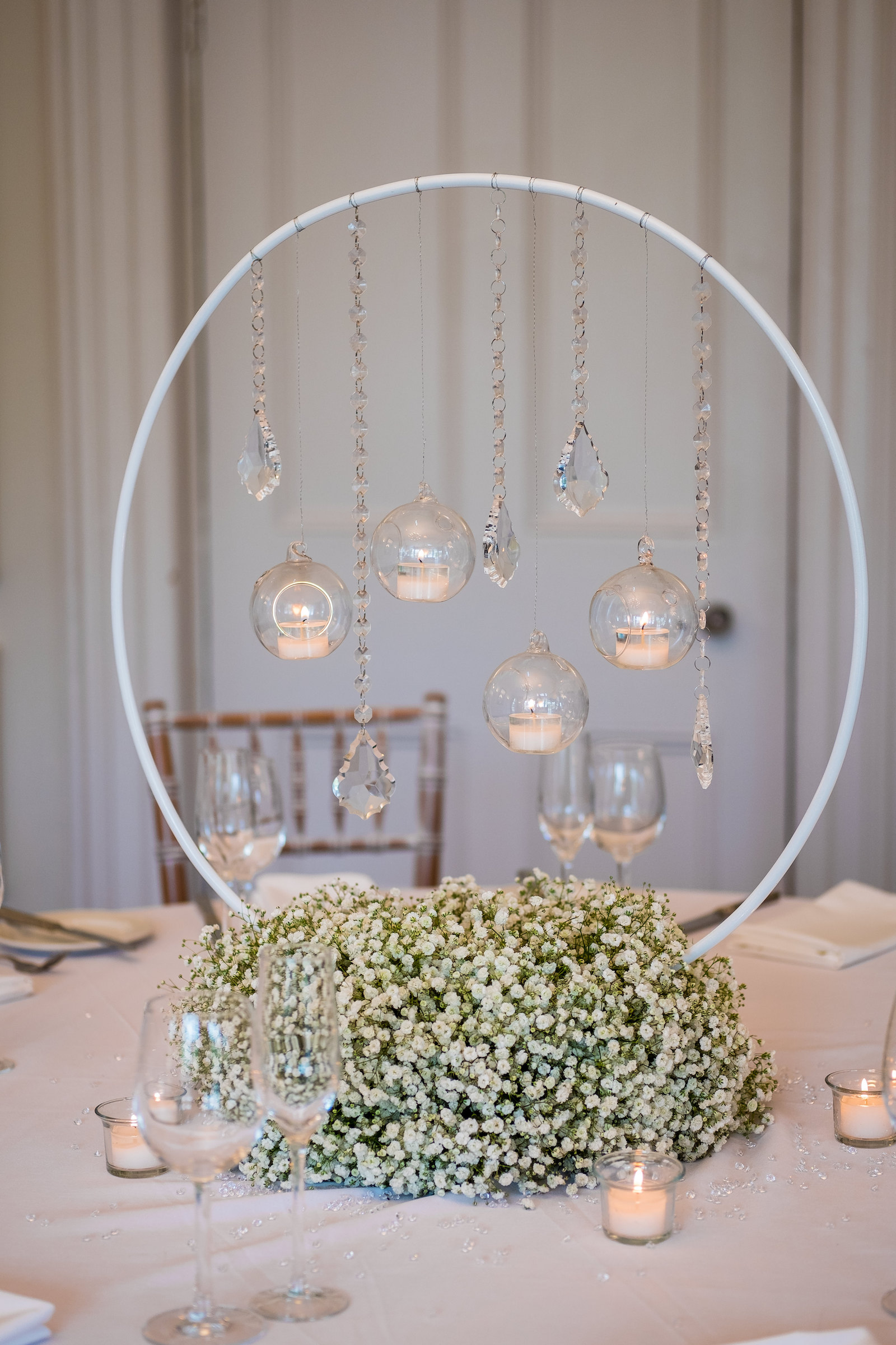 Gypsophila wedding flowers Ashfield House standish exclusive hire award winning wedding venue